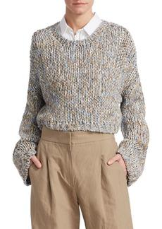Brunello Cucinelli Cropped Linen Pullover