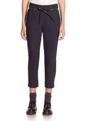 Brunello Cucinelli Cropped Pants with Leather Belt