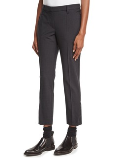 Brunello Cucinelli Cropped Stretch-Wool Pants
