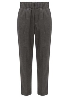 Brunello Cucinelli Cropped wool tapered trousers