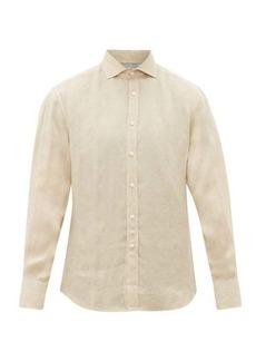 Brunello Cucinelli Cutaway-collar linen shirt