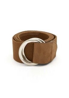 Brunello Cucinelli D-ring woven canvas belt