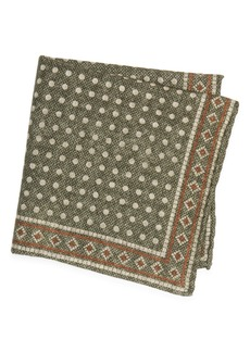 Brunello Cucinelli Dot Wool Pocket Square