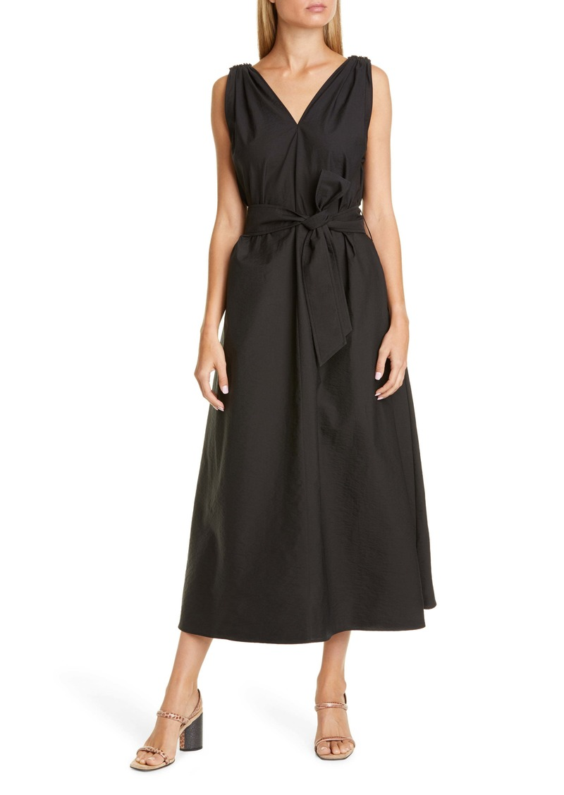 Brunello Cucinelli Double-V Poplin Midi Dress