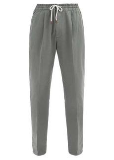 Brunello Cucinelli Drawcord-waist cotton-blend chinos