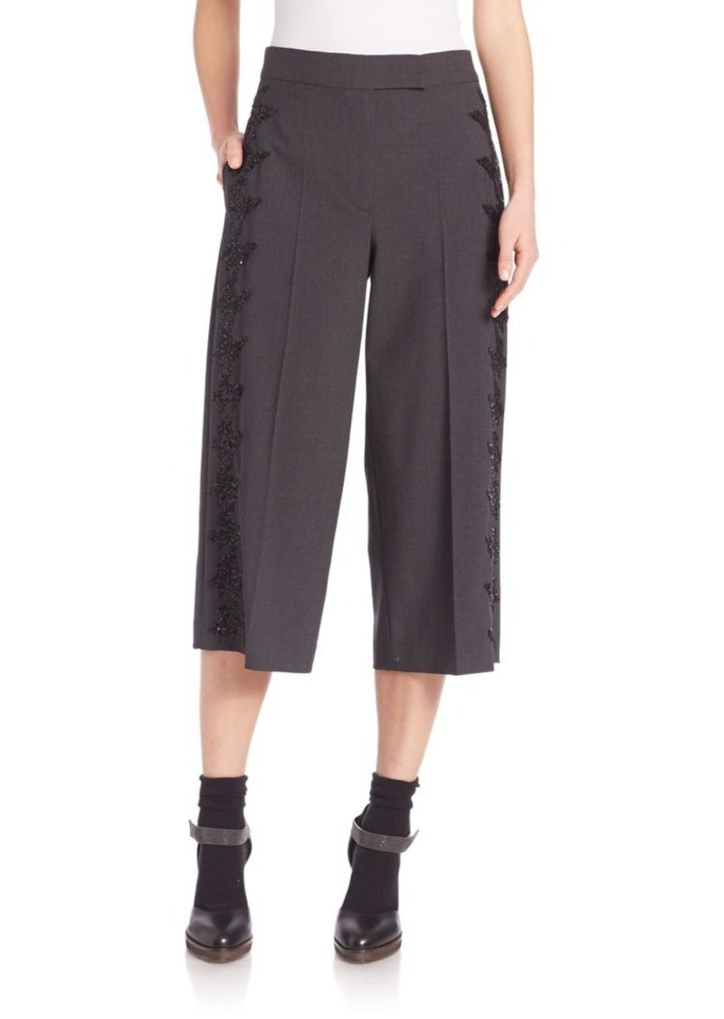 Brunello Cucinelli Embellished Gaucho Pants
