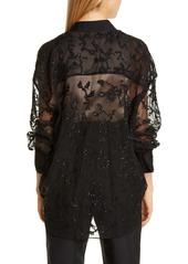 Brunello Cucinelli Embellished Sheer Silk Shirt