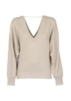 Brunello Cucinelli English Ribbed Sweater V-neck Cashmere Sweater