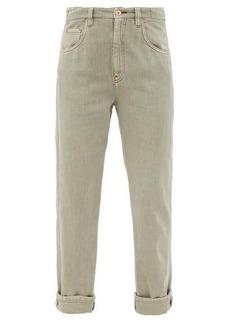 Brunello Cucinelli Faded straight-leg jeans