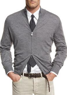 Brunello Cucinelli Fine-Gauge Full-Zip Sweater