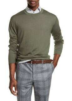 Brunello Cucinelli Fine Gauge Wool & Cashmere Crewneck Sweater