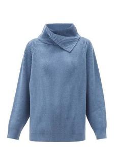 Brunello Cucinelli Foldover-neck ribbed cashmere sweater