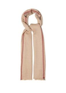 Brunello Cucinelli Fringed-edge cashmere-blend twill scarf