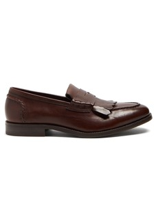 Brunello Cucinelli Fringed leather loafers
