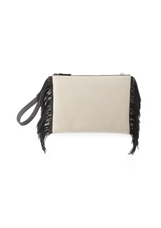 Brunello Cucinelli Fringed Nubuck Wristlet Bag