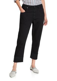Brunello Cucinelli Garment-Dyed Monili-Cuffed Jeans