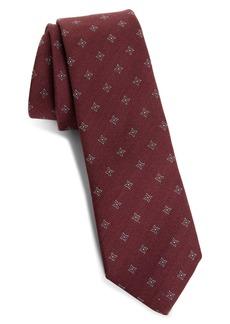 Brunello Cucinelli Geo Wool & Silk Tie