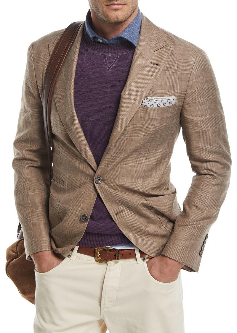 77e41fc4f6 Glen Plaid Wool-Linen Sport Coat Medium Brown