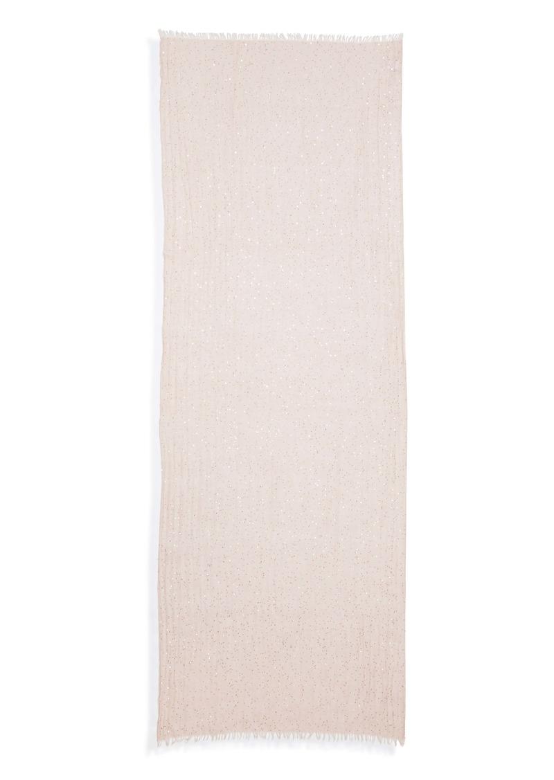 Brunello Cucinelli Paillette Cashmere & Silk Blend Scarf