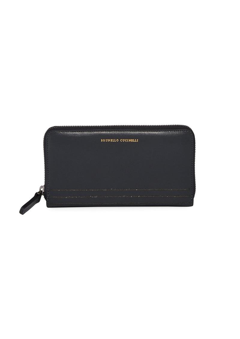 Brunello Cucinelli Glossy Napa Super-soft Big Wallet