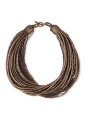 Brunello Cucinelli Golden Coiled Chain Necklace