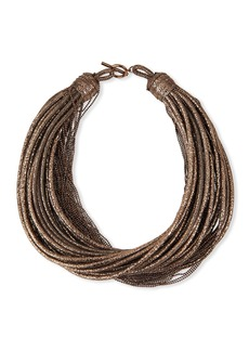 Brunello Cucinelli Golden Coiled Chain Necklace
