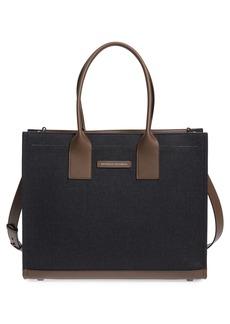 Brunello Cucinelli Grande Cashmere & Leather Tote