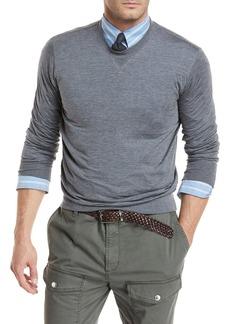 Brunello Cucinelli Heathered Silk/Cotton Jersey Sweatshirt