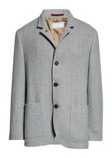 Brunello Cucinelli Herringbone Wool & Cashmere Jacket