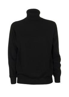 Brunello Cucinelli High-necked Sweater In Black Cashmere