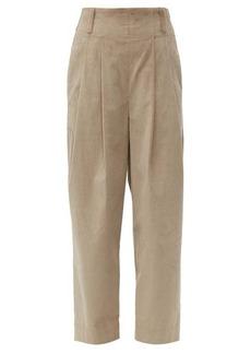 Brunello Cucinelli High-rise cotton-blend corduroy trousers