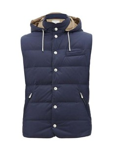 Brunello Cucinelli Hooded quilted-down gilet