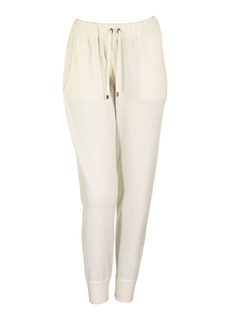 Brunello Cucinelli Ivory Cashmere Sweatpants Trousers