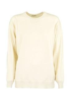 Brunello Cucinelli Ivory Round Neck Sweater