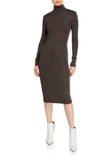 Brunello Cucinelli Jersey Mock-Neck Bodycon Dress