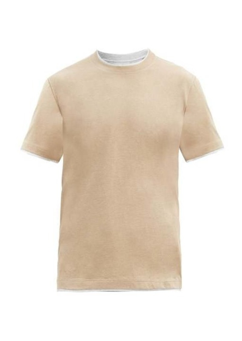 Brunello Cucinelli Layered cotton T-shirt