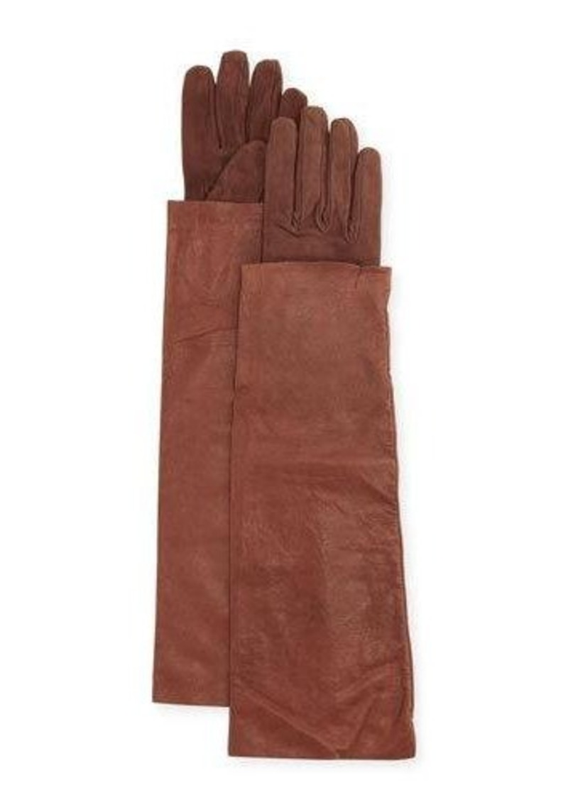 Brunello Cucinelli Leather & Suede Long Gloves