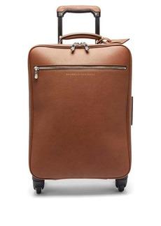 Brunello Cucinelli Leather cabin suitcase