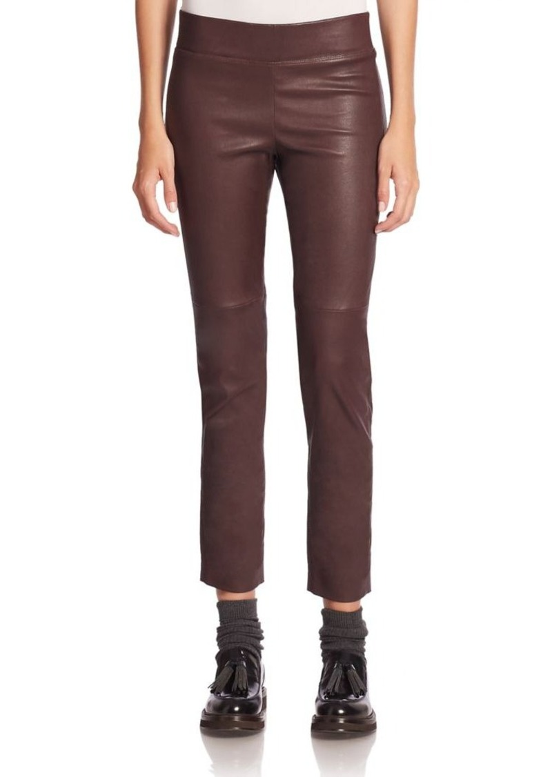 Brunello Cucinelli Leather Cropped Pants