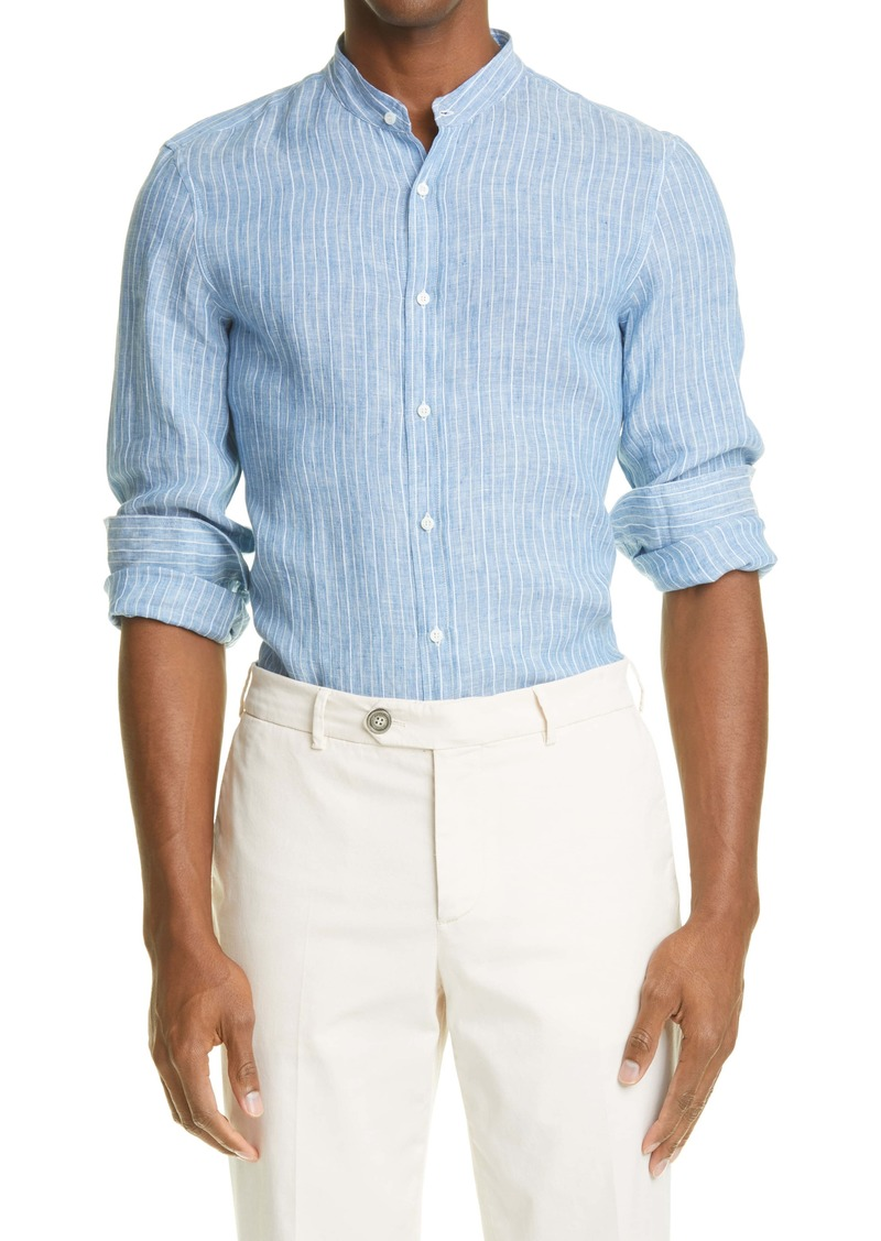 Brunello Cucinelli Leisure Fit Button-Up Shirt