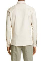 Brunello Cucinelli Leisure Fit Cotton Twill Western Shirt