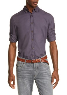 Brunello Cucinelli Leisure Fit Solid Button-Down Sport Shirt