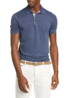 Brunello Cucinelli Linen & Cotton Polo Shirt