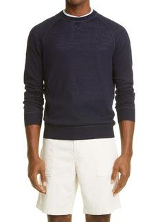 Brunello Cucinelli Linen & Cotton Raglan Sweater