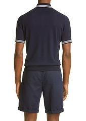 Brunello Cucinelli Linen & Cotton Short Sleeve Polo