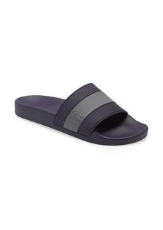 Brunello Cucinelli Logo Stripe Slide Sandal (Men)