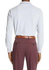 Brunello Cucinelli Long Sleeve Cotton Pique Polo