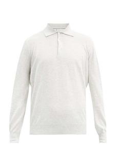 Brunello Cucinelli Marl cotton long-sleeved polo shirt
