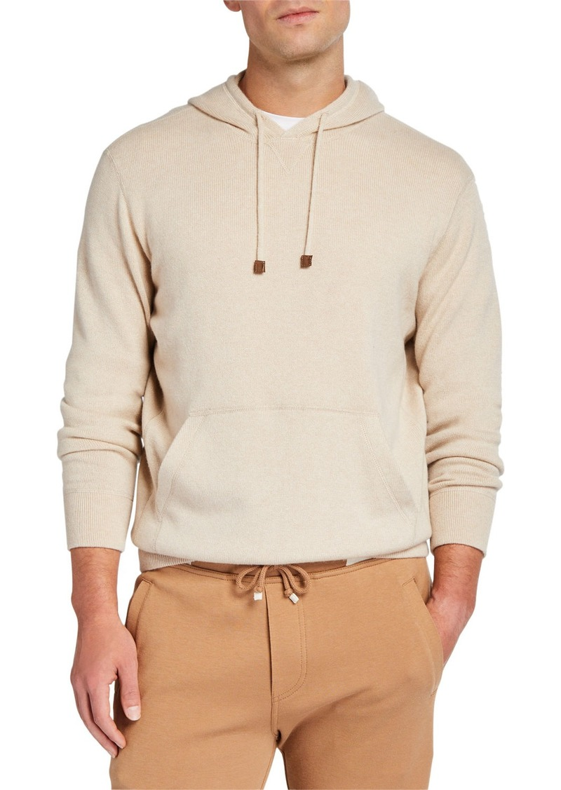 Brunello Cucinelli Men's Cashmere Pullover Hoodie