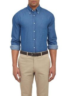 Brunello Cucinelli Men's Chambray Shirt